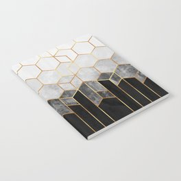 Charcoal Hexagons Notebook