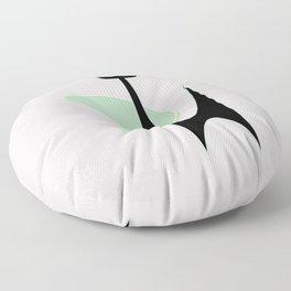 Mid Century Atomic Boomerang Cat Floor Pillow