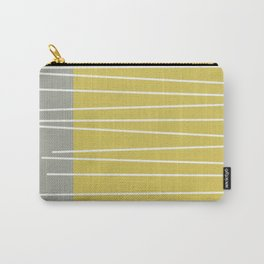 MId century modern textured stripes Carry-All Pouch