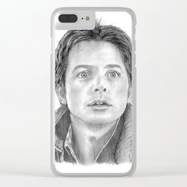 Marty McFly Portrait Clear iPhone Case