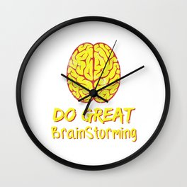 Problem Solving or Brainstorming Tshirt Design Do great brain storming Wall Clock