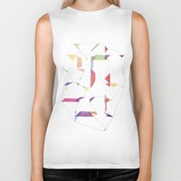 fly Biker Tanks featuring fly  by sandesign