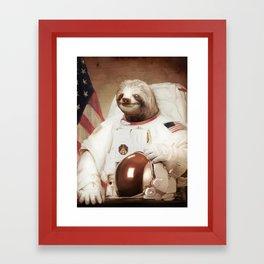 Sloth Astronaut Framed Art Print