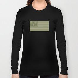 Camo Stars and Stripes – USA Flag in Military Camouflage Colors [FalseFlag 1] Long Sleeve T-shirt