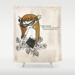 The golden girl Shower Curtain