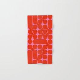 Abstract mid-century shapes no 6 Hand & Bath Towel