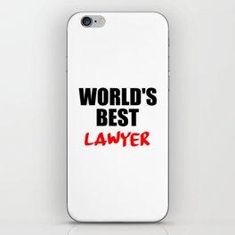 worlds best lawyer iPhone Skin