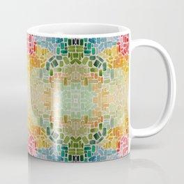 Abstract rainbow rectangles Coffee Mug
