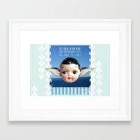glee Framed Art Prints featuring ocean glee  by Kelli May-Krenz