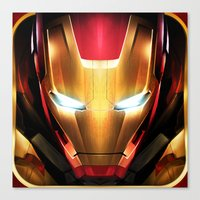 iron man Canvas Prints featuring IRON MAN IRON MAN by Smart Friend