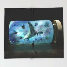 Pill Aquarium by GEN Z Throw Blanket