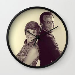 Julie Andrews and Harry Belafonte Wall Clock