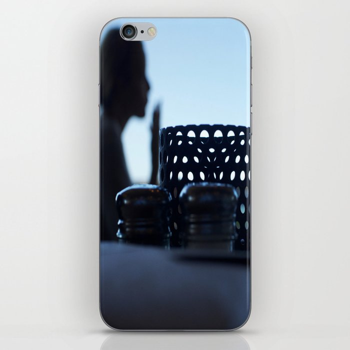 breakfast at Tiffany's in blue iPhone Skin