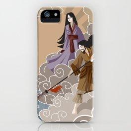 Izanagi and Izanami asian mythology shinto god and goddess creating an island iPhone Case