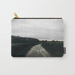 Winter countryside lane Carry-All Pouch