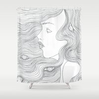 illusion Shower Curtains featuring Illusion by  Louie