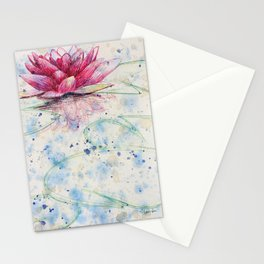 beauTEAful blooms: Water Lily Stationery Cards