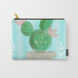 Cute Spring Succulent Cactus Carry-All Pouch