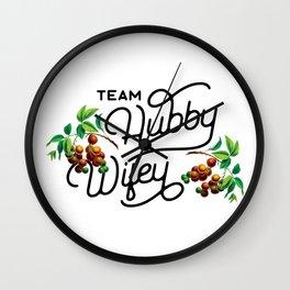 Team Hubby & Wifey Wall Clock
