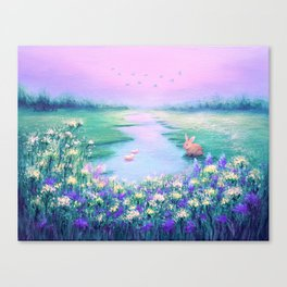 Pools of Blessing After Rain Canvas Print