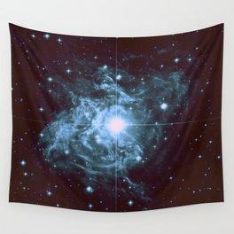 Steel Blue Galaxy Star Wall Tapestry