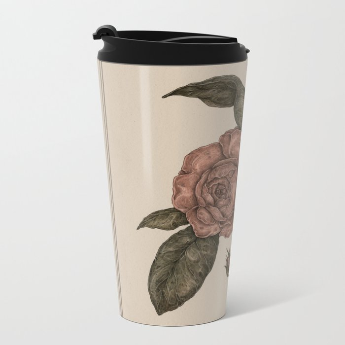Roses Metal Travel Mug