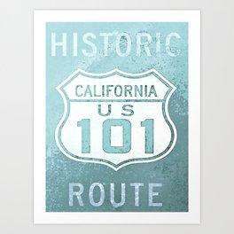 Route 101 Art Print