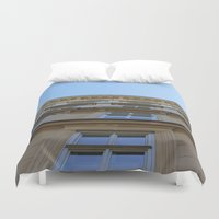 vienna Duvet Covers featuring Abstract Vienna by Andrew Schmidt