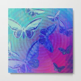 Swirling Butterflies Metal Print
