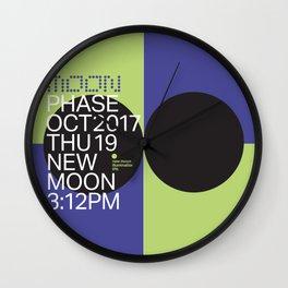 New Moon - Oct 19, 2017 Wall Clock