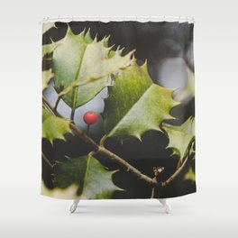 Haul Out The Holly Shower Curtain