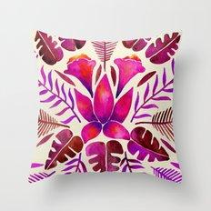 Tropical Symmetry – Magenta Throw Pillow