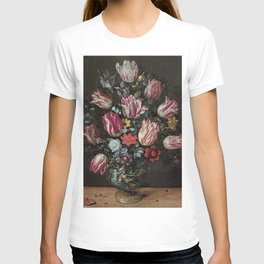 Vase with Tulips - Frans Francken the Younger T-shirt
