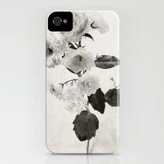 white flowers iPhone (4, 4s) Slim Case