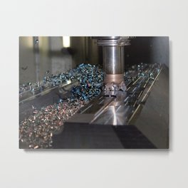 milling machine Metal Print