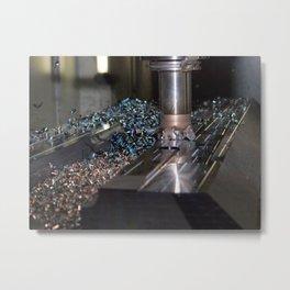 milling machine Metal Print