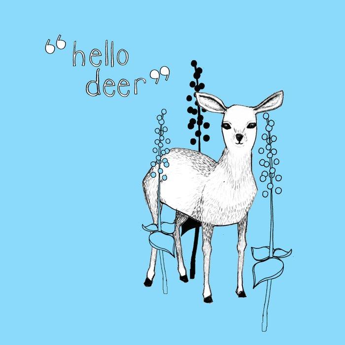 hello deer! Duvet Cover