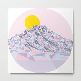 Geometric Mt. Hood Metal Print