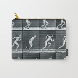 Time Lapse Motion Study Man Running Monochrome Carry-All Pouch