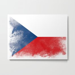 Czech flag isolated Metal Print