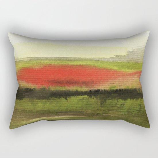 Watercolor abstract landscape 18 Rectangular Pillow