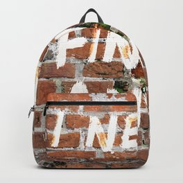 I never finish any… Backpack