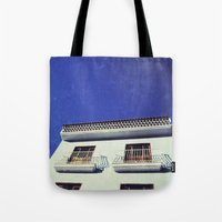 spanish Tote Bags featuring Spanish House by Martin Llado