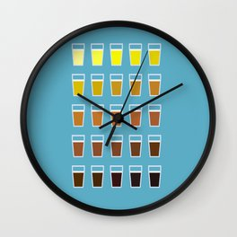 The Colors of Beer Wall Clock
