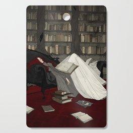 Asleep in the Library Cutting Board