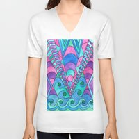 gatsby V-neck T-shirts featuring Gatsby Inspired by Rosie Brown