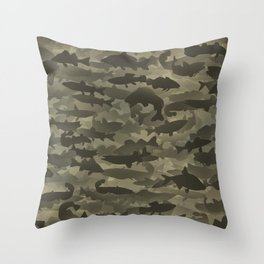 Fresh water fish camouflage Throw Pillow