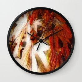 Autumn Blush Abstract Wall Clock