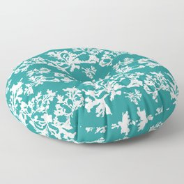 Turquoise Seaweed Pattern Floor Pillow