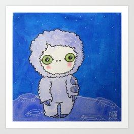 Moonkhin 2 (lavender tranquil) Art Print